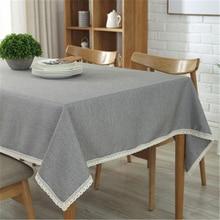 Прямоугольная скатерть Водонепроницаемый смешивания твердое покрытие стола анти-обжигающий Свадебные ткань для таблицы домашний текстиль сад