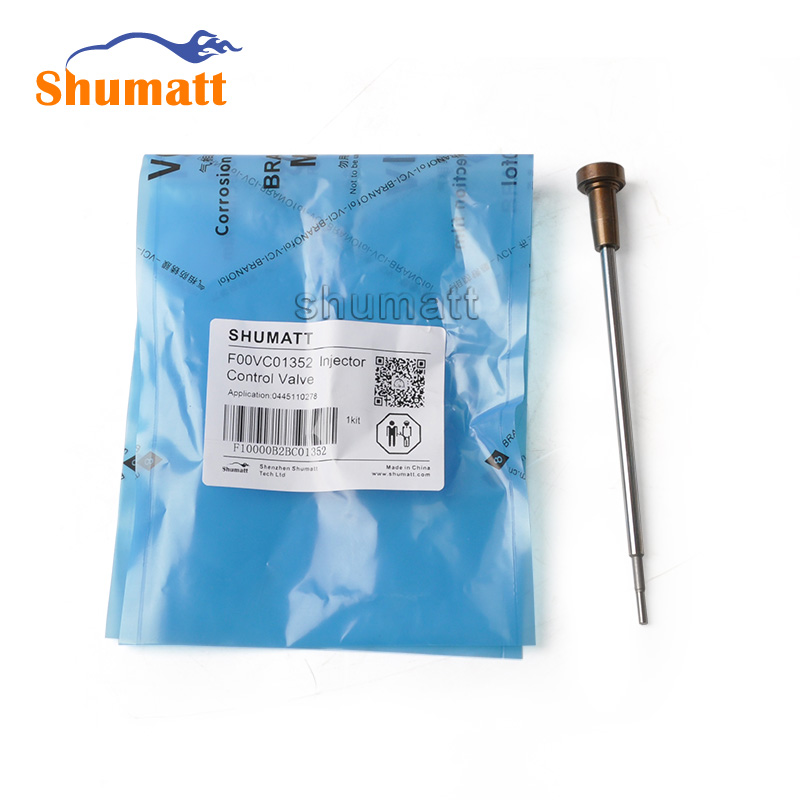 SHUMAT 4pcs Diesel Spare Parts F00VC01352 Common Rail Fuel Injector Control Valve Assy for 0445 110