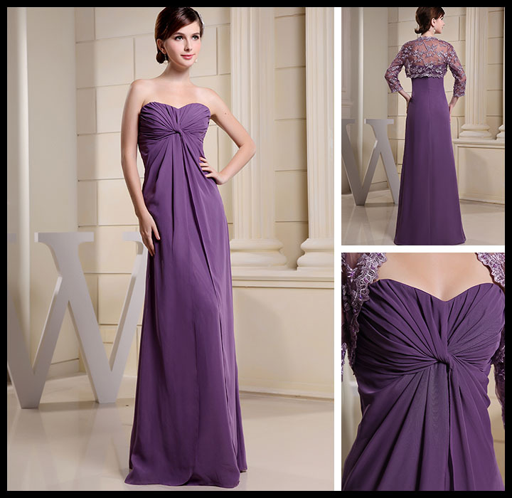2015 Top Design Luxury Evening Dress Empire Waist Elegant