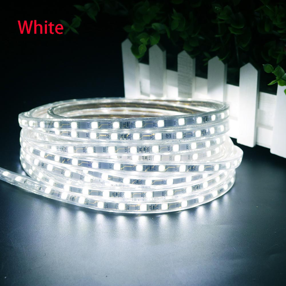 220V Led Strip 5050 Epistar-chip med strömuttag 1 2 3 4 5 6 7 8 9 10 - LED-belysning - Foto 4