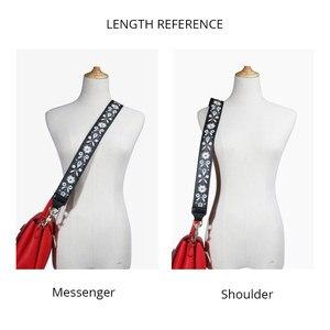 Image 3 - Женская сумка на ремне из натуральной кожи с вышивкой, аксессуары для сумок, красивая женская сумка на ремне, высокое качество, ремни для сумок
