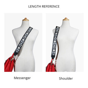 Image 3 - Genuine Leather Embroidered Bag Strap Women Bag Accessories Handbag Strap Lady Beautiful bag belt High Quality Straps For Bags