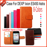 AiLiShi Book Style PU Leather Case High Quality Flip For DEXP Ixion ES450 Astra Case 8-Colors Wallet Protective Cover Skin