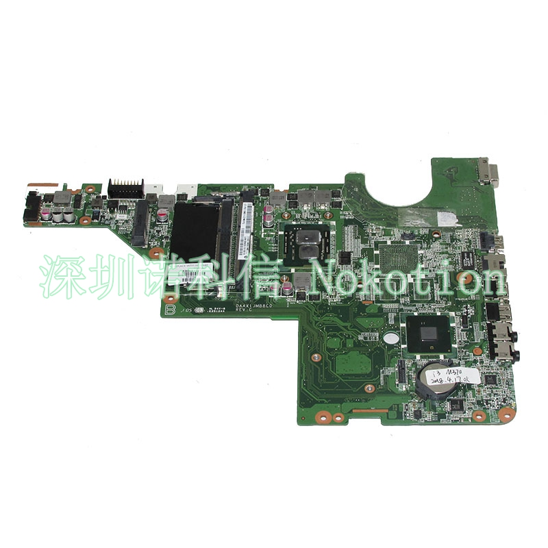 NOKOTION 634648-001 DAAX1JMB8C0 Main board For HP compaq G62 CQ62 Laptop motherboard I3-350M CPU DDR3 full tested 634649 001 for hp g42 cq42 cq62 laptop motherboard daax1jmb8c0 i3 cpu ddr3 free shipping 100