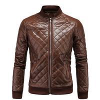 Кожаная куртка Для мужчин высокое качество мода стоять воротник Pilot PU кожаные пальто мужской мотоцикл утепленные куртки Для мужчин Casaco Masculino