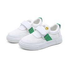 White Running Shoes Kids Spring Summer Mesh Breathable Children Shoes For Boys Light-weight Casual Sneakers Girls Shoes Green цена в Москве и Питере