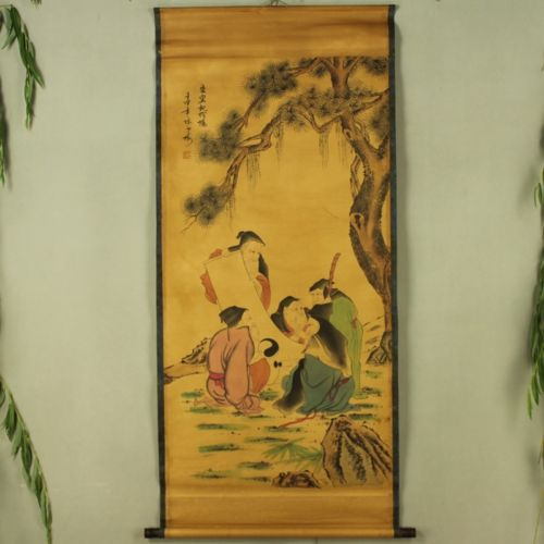 Chinois exquis collection D'antiquités Imitation Antique Figure diagramme No 2