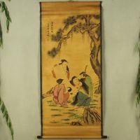 Exquisite Chinese Antique collection Imitation ancient Figure diagram No.2