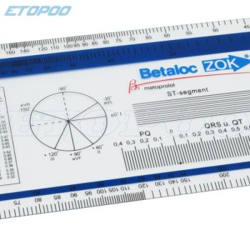 Pcv ekg linijka ekg goniometr medyczny PD linijka Userful multi-linijka 360 stopni goniometr kąt medyczny rdzeń kręgowy CM cal tanie i dobre opinie ETOPOO Metalworking GJC13-2B