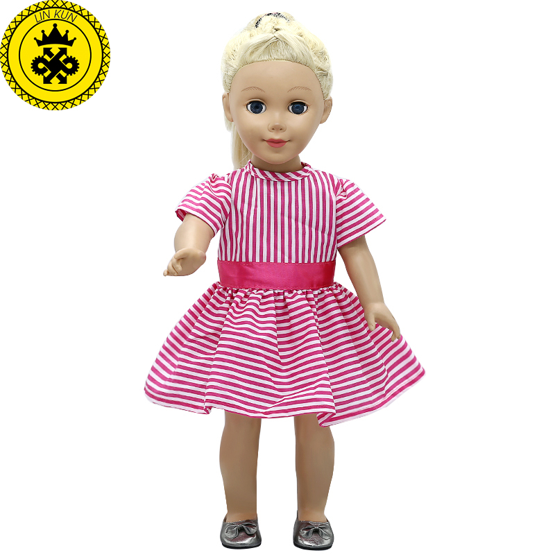 American Girl Doll Clothes Red Striped Princess Skirt for 18 inch Madame Alexander Doll Accessories 2017 NEW MG-547 handmad 18 inch american girl doll clothes princess anna dress fits 18 american girl doll mg 032