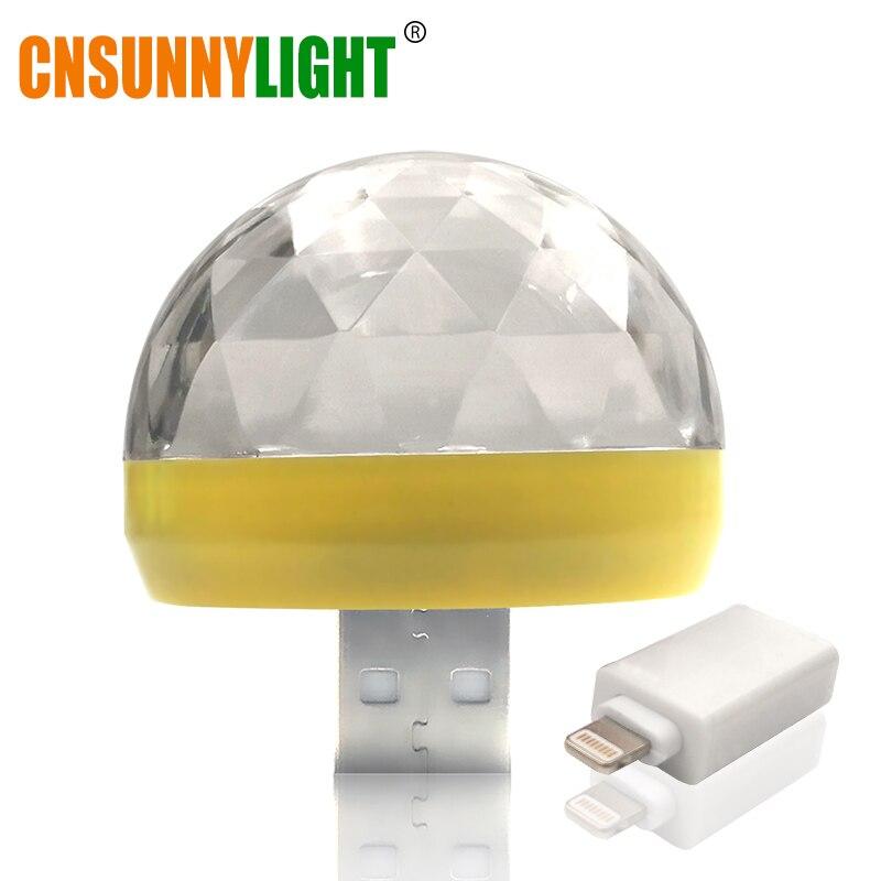 HTB1UuIesZuYBuNkSmRyq6AA3pXas CNSUNNYLIGHT LED Car USB Atmosphere Light DJ RGB Mini Colorful Music Sound Lamp USB-C Phone Surface for Festival Party Karaoke