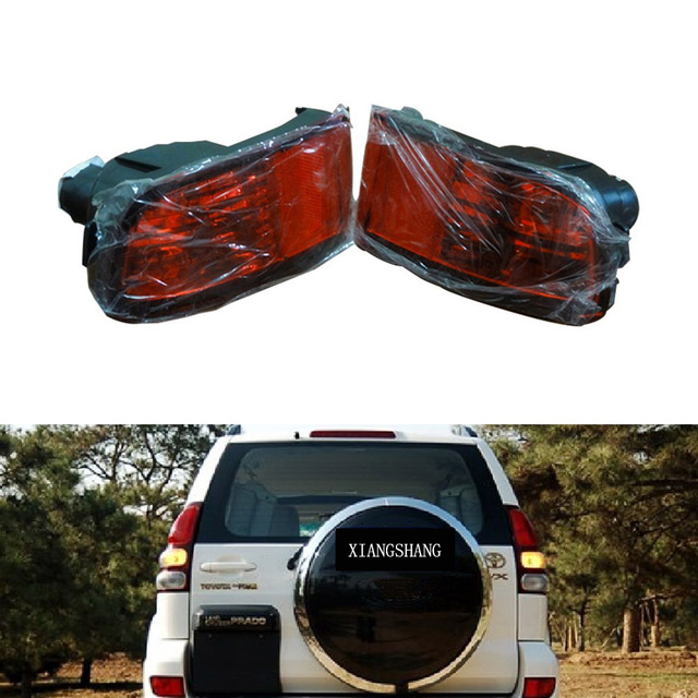 2 Pcs luzes do carro de parada de freio traseiro refletor fog lâmpada para TOYOTA LandCruiser Prado FJ120 2002-2009 sem lâmpadas