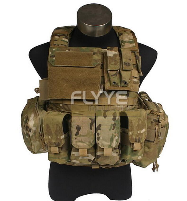 FLYYE  MOLLEForce Recon Vest with Pouch Set Ver.Land  Military Tactical Vest VT-M005 in stock flyye genuine molle force recon vest military tactical vest vt m013