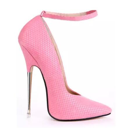 16cm metal thin heel pointed toe pumps for women Fashion shallow ankle strap super high heel shoes High heels Dress shoes classic open heel pointed toe high heel pumps for women ladies sexy shallow thin heel shoes women summer high heels dress shoes