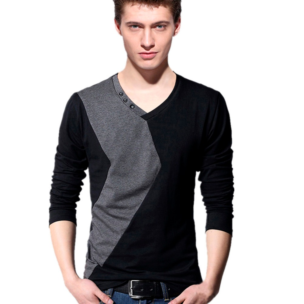 Online Get Cheap V Neck Long Sleeve T Shirts -Aliexpress.com ...