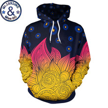 Psychedelic Mandala Print Hooded Sweatshirt Men Women Casual 3D Hoodies Men Harajuku Hip Hop Hoody Hoodie