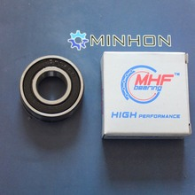 Gratis Verzending MHF 10 stks 6202RS 16mm 6202/16 een rubber zeehonden Miniatuur Radial Kogellagers Beste Prijs Hoge Prestaties