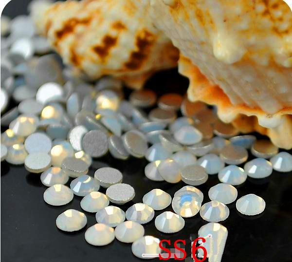 1440pcs/Pack ss6 (1.9-2.0mm) Crystal White opal Rhinestones For Nail Art,Flat Back Non Hotfix Glue on Nail Art Rhinestones e cap aluminum 16v 22 2200uf electrolytic capacitors pack for diy project white 9 x 10 pcs