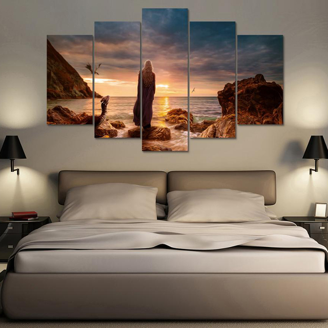 Home Decoration Posters Wall Art Pictures Frame Living Room 5 Pieces Game  Of Thrones Movie Characters