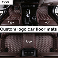 custom logo car floor mats for Fiat All Models 500 Bravo Freemont car styling car accessories car mats