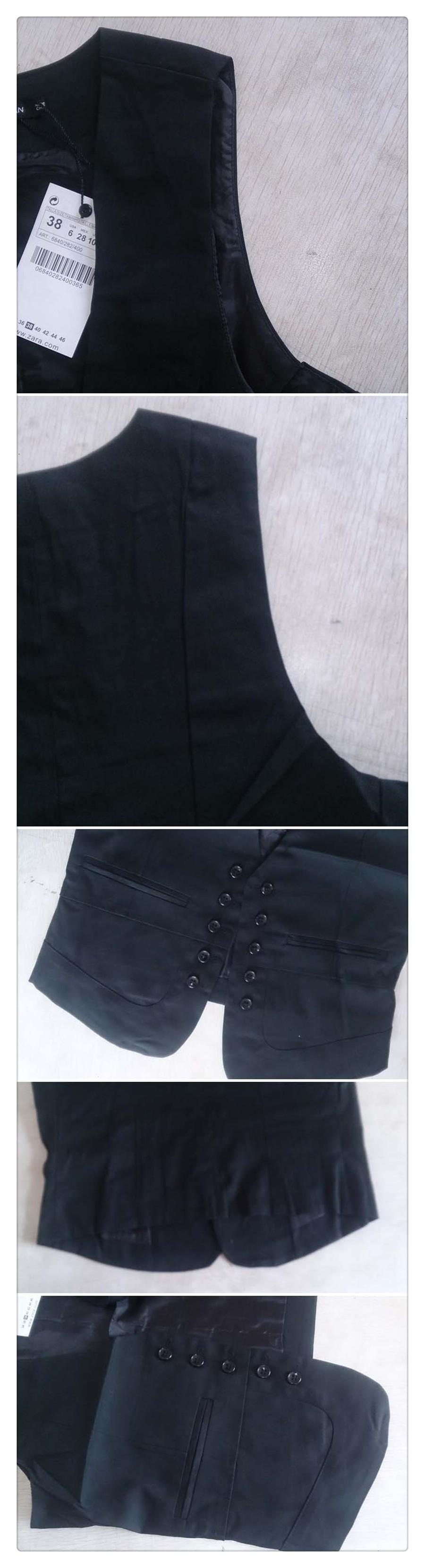 women solid black vest  (4)