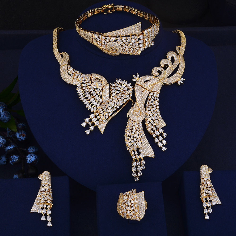 GODKI Super Luxury Geometry African 4pcs Bridal Zircon Jewelry Sets For Women Wedding Dubai Nigeria Crystal Party Jewelry SetGODKI Super Luxury Geometry African 4pcs Bridal Zircon Jewelry Sets For Women Wedding Dubai Nigeria Crystal Party Jewelry Set