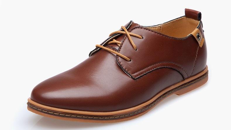 Hot Sale New oxford Casual shoes Men Fashion Men Leather Shoes Spring Autumn Men Flat Patent Leather Men Shoes WGL-K03-1 8