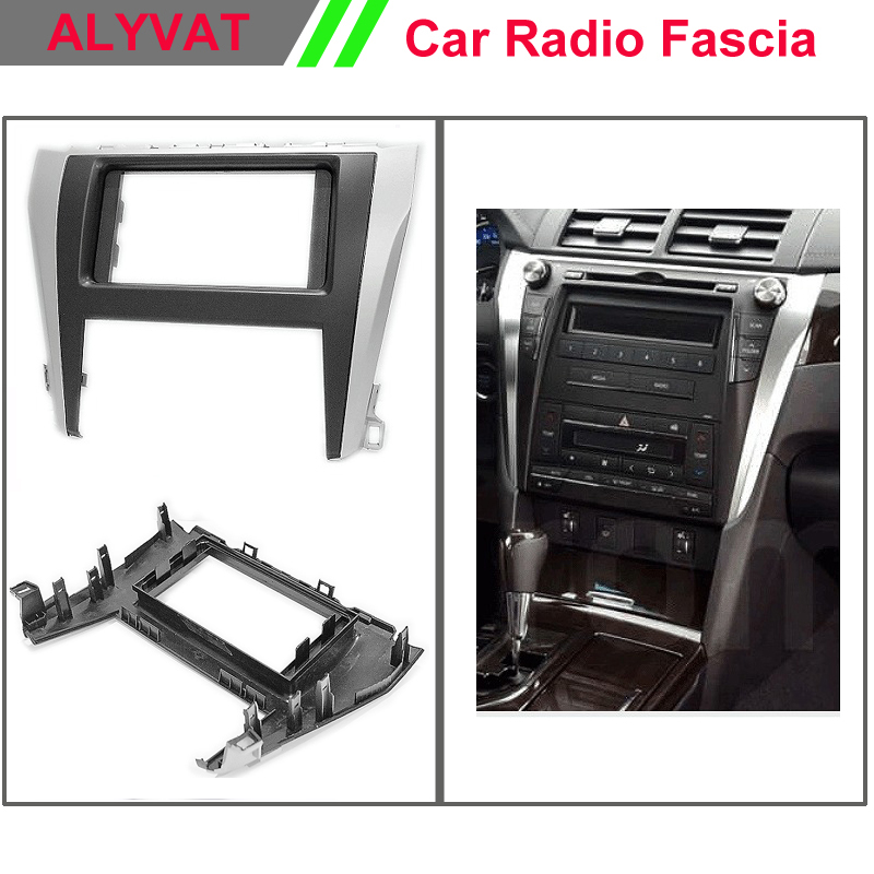 Car Radio Fascia Frane Panel for TOYOTA Camry, Aurion 2015+ Stereo Dash Facia Trim Surround CD Installation Kit