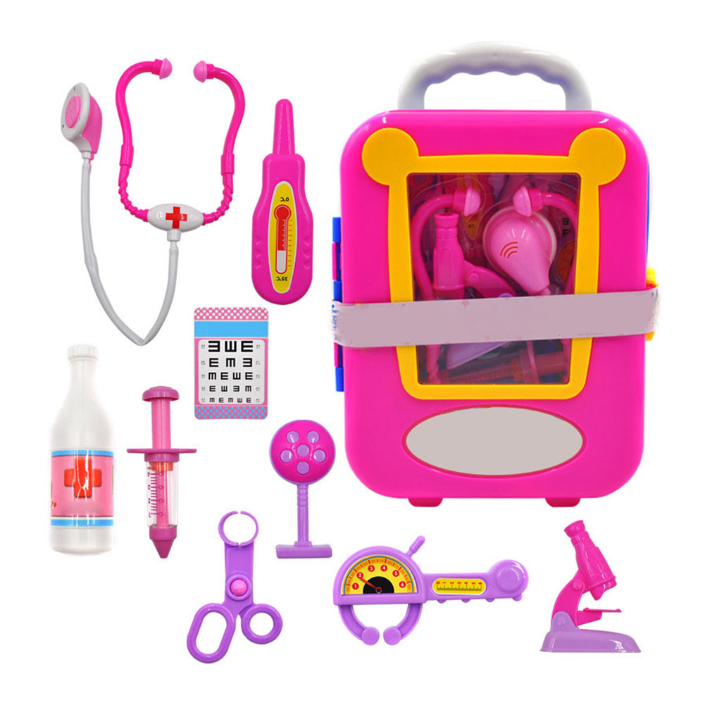 Children Toys Doctor Role Play Set Simulation Doctors Kids Pretend Roleplay Medical Kit Classic Toy Gifts BM88