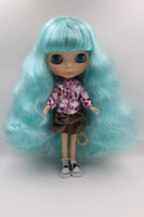Blyth Doll Flesh White Skin Light Green Long Curly Hair There Are Bangs Naked Dolls Body