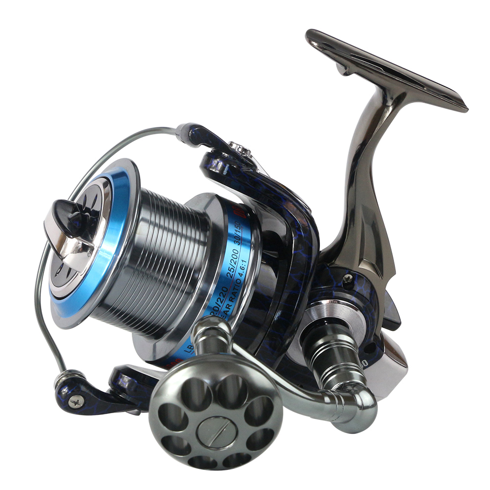 Full metal spool trolling long shot casting for carp fishing and Saltwater surf spinning wheel 18KG Drag Boat fishing reel trolling reel 9 1bb drum wheel carp baitcasting reels centrifugal brake casting saltwater fishing reel super power drag 30kg
