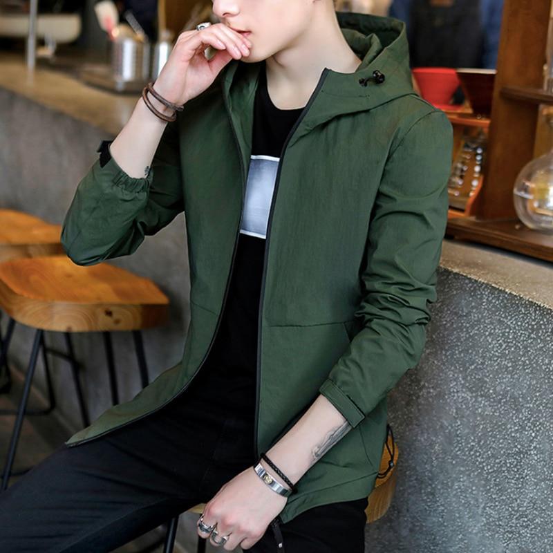 Veste Noir Zippée Longues vert argent Manches Capuchon Grande Occasionnel Hommes À Taille Solide Poche Couleur dqS0nw7px