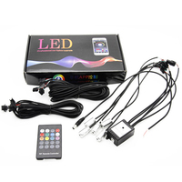 6 Meter RGB Fiber Optic Atmosphere Lamps Remote Control Car Interior Light Ambient Light Decorative Dashboard