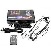 6 Meter RGB Fiber Optic Atmosphere Lamps Remote Control Car Interior Light Ambient Light Decorative Dashboard