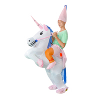 2017 New Inflatable Unicorn Kids Children Costume Cosplay For Men And Women Cosplay Mascot Costume For