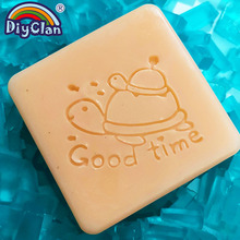 Tortoise Handmade Soap Making Stamp Animal Clear Diy Natural Organic Good Time Glass Seal Acrylic Chapter Tools3Z0343