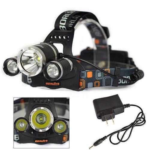 Camping & Outdoor Lampen & Laternen 6000Lm XML T6 LED Kopflampe Zoomable Stirnlampe Headlight+2X18650 Akku+Ladegerät