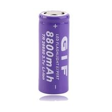 цены GTF 3.7V 8800mah 26650 Battery Li-Ion Rechargeable Battery Portable Electronic cigarette battery LED Flashlight Battery