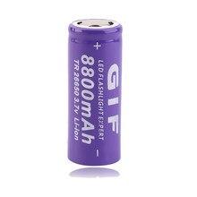 Gtf 3.7v 8800mah 26650 bateria recarregável li-ion bateria portátil cigarro eletrônico bateria lanterna led bateria