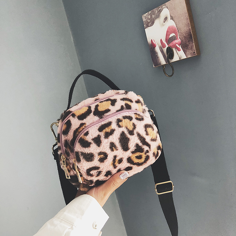 Cloth Shake Leopard Print Tote Bag For Teenagers Girls Fashion Mini Women Shoulder Bag Brand Female Small Simple Crossbody Bag