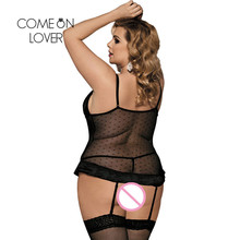 Comeonlover Lingerie Sexy Hot For Women Transparent Crocheted Lenceria Erotica Mujer Sexi Floral Plus Size Sexy Lingerie RI80317