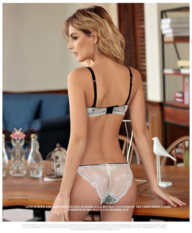 Luxury european sheer lingerie
