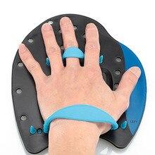 1 пара профессиональные плавники для плавания плавные штрихи коррекция практики регулируемые ручные перчатки для взрослых детей