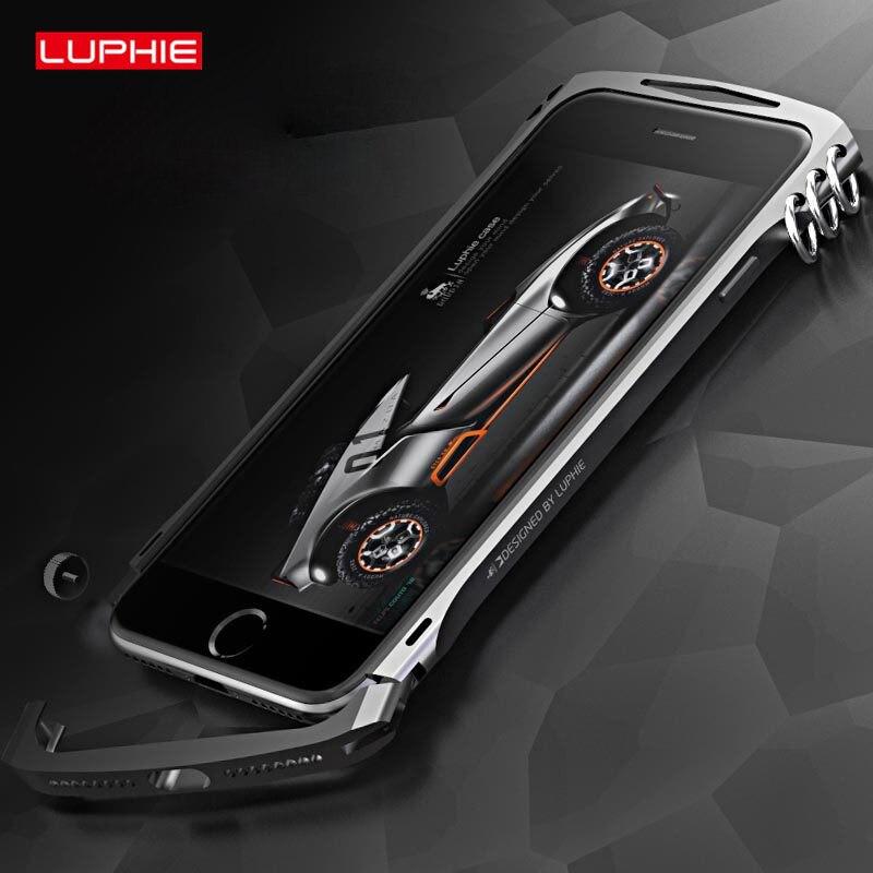 bilder für LUPHIE Luxury Stoßfest Ring Knopf Metallrahmen Stoßstange Fiber Zurück Fall für apple iphone 7 7 plus aluminium abdeckung shell 2017 neue