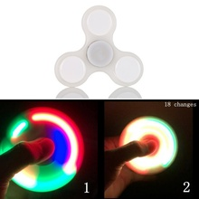 LED Light Hand Finger Spinner Fidget Plastic EDC Hand Spinner For Autism and ADHD Relief Focus Anxiety Stress Gift Toys