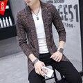 Новый свитер тонкий человек пальто Корейской длинное пальто кардиган шерстяное пальто Британский мужской