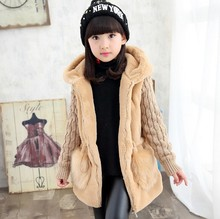 Faux Fur Jackets Thicken Children Outerwear Jacket Girls Winter Coat Girls Clothing Kids Clothes Warm 4