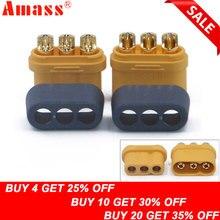 10 x Amass MR60 штекер ж/Защитная крышка 3,5 мм 3 ядерный разъем Т-образный разъем интерфейс разъем в оболочке для RC модели(5 пар