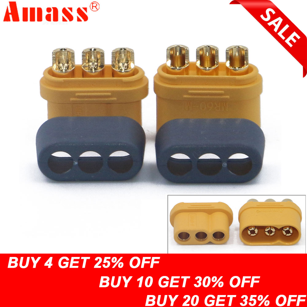 Other Rc Model Vehicles & Kits 10 Pairs Xt30 2mm Golden Male Female Non-slip Plug Interface Connector Discounts Sale Rc Model Vehicles & Kits