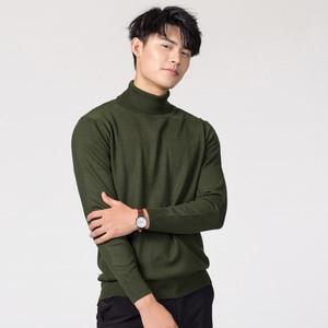 Image 4 - Chandails en laine et en cachemire, pull tricoté dans 11 couleurs, pull à col roulé, hiver, offre spéciale